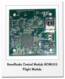 NanoRacks Control Module NCM002 Flight Module.